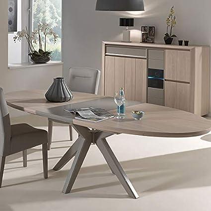 M 128 Tavolo Allungabile Moderno Colore Legno E Talpa Amazon It Casa E Cucina