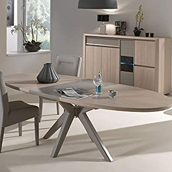 Tavoli Ovali Allungabili Moderni.M 128 Tavolo Allungabile Moderno Colore Legno Tortora