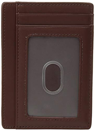 Credit Card Holder Genuine Leather Slim & Thin Pocket Wallet Minimalist Wallet Money Clip RFID Blocking