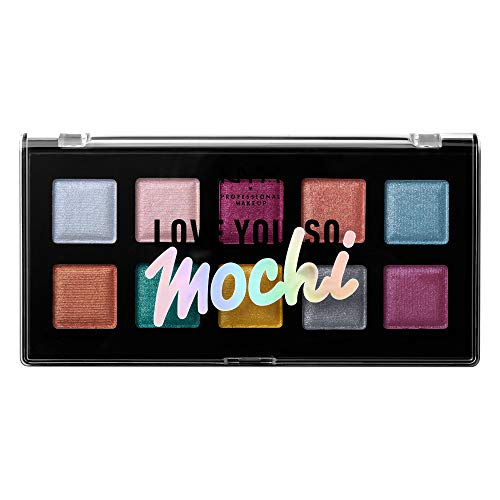 NYX PROFESSIONAL MAKEUP Love You so Mochi Eyeshadow Palette, Electric Pastels, 0.46 Ounce