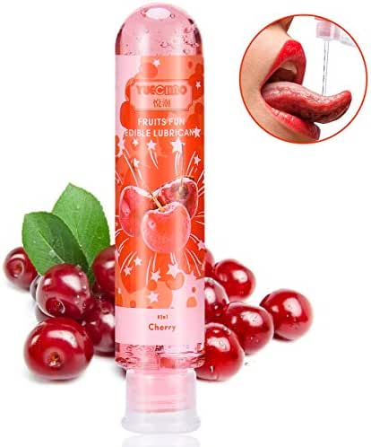 Flavored Personal Lubricant,Water Based Lube for Oral Sex,Natural Edible Lubricant for Women,Sensual Massage for Couples,80ml/2.78 Ounce Sex Lube for Men(Cherry)