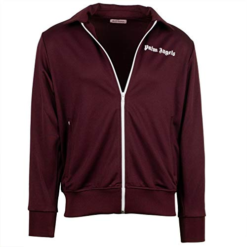Palm Angels Bordeaux/White Collar Track Jacket