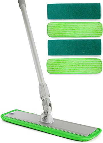 Amazon giveaway professional microfiber mop 18 for Best mop for cement floors