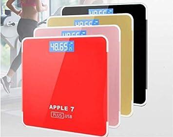 MINMINA Escala de Peso de pérdida de Peso de la báscula de Peso Corporal Escala de Cuerpo de Escala de Cuerpo de USB, Rojo: Amazon.es: Hogar