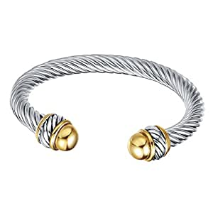 UNY Fashion Jewellery Brand Cable Wire Retro Antique Bangle Elegant Beautiful Valentine Mothers Day Gift