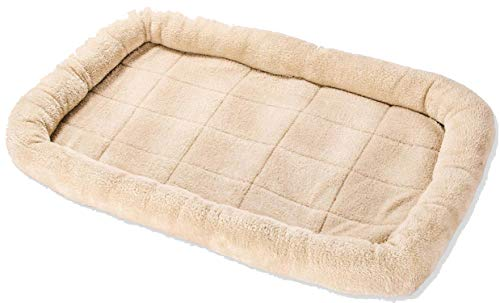 Soft Dog Cat Cushion Mat Puppy Sleep Bed Kennel Warm Thick Pet Blanket Pad Mattress Sofa for Small Medium Large Dogs S-XXL,Beige,90X60CM