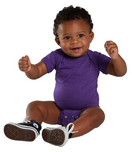Rabbit Skins Infant Vintage Fine Jersey Soft Bodysuit, Vintage Purple, 18 Month by Rabbit Skins (Image #1)