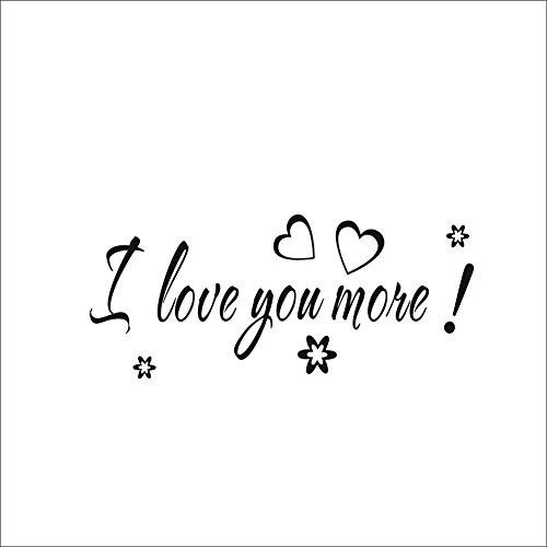 "Romantic ""I Love you"" Quote Wall Sticker Mural Decal Art Decorative Home Decor"