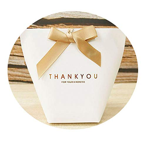 5Pcs Bronzing Candy Bag French Thank You Wedding Favors Gift Box Package Birthday Party Favor Bags 12x10cm