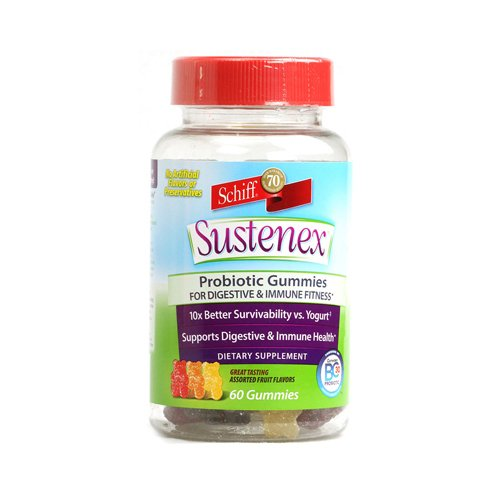 SCHIFF Sustenex Probiotic Gummies Assorted Fruit Flavors ...