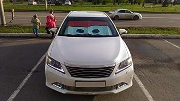 AoforzBrand Augen Beheizte Windschutzscheibe Sonnenschutz Auto Fenster Windschutzscheibe Abdeckung Sonnenschutz Auto Sonnenblende Auto-deckt Auto Sonnenschutz