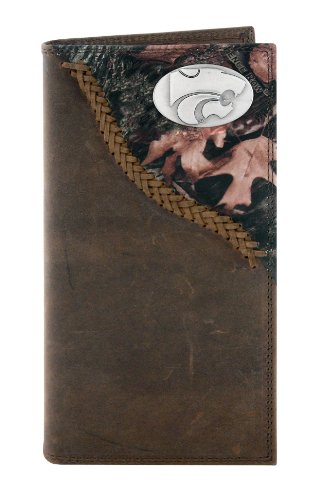 NCAA Kansas State Wildcats Zep-Pro Roper Concho Wallet, Camouflage