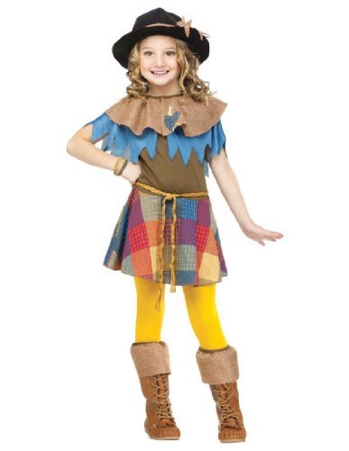 Big Girls' Scarecrow Costume - S -