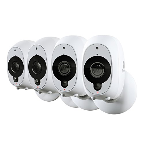 Swann Smart Security Camera 4 Pack | 1080p Wire-Free Security | True Detect PIR Heat/Motion Sensor | Works with Alexa (SWWHD-INTCAMPK4)