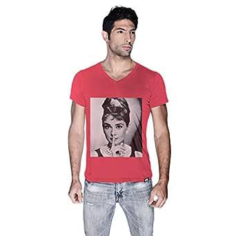 Creo Audrey Hepburn T-Shirt For Men - L, Pink