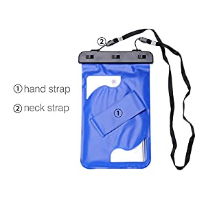 "Universal Waterproof Case, MoKo Dry Bag Pouch for iPad Mini 4/3/2, Samsung Tab 5/4/3, Galaxy Note 8, Tab S2/Tab E/Tab A 8.0, LG G Pad III 8.0, Google Nexus 7(FHD) & More Up to 8.3"" - BLUE"