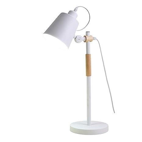 ZZW Lámparas de Mesa LED Ajustables, Hierro nórdico de ...