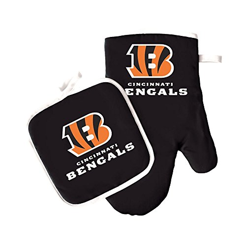 Pro Specialties Group NFL Cincinnati Bengals Oven Mitt and Pot Holder ()