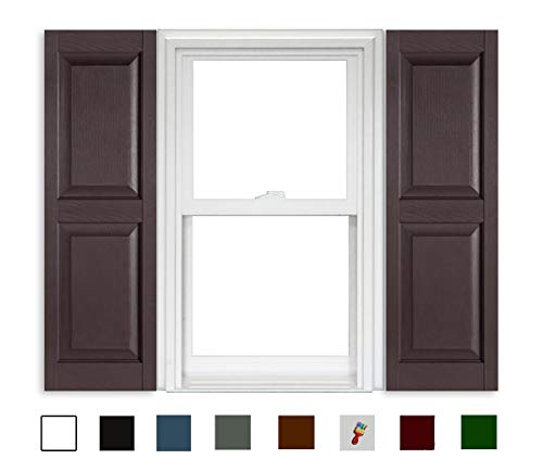 - Polaris Shutters Raised Panel - 025 Sienna Brown - 15