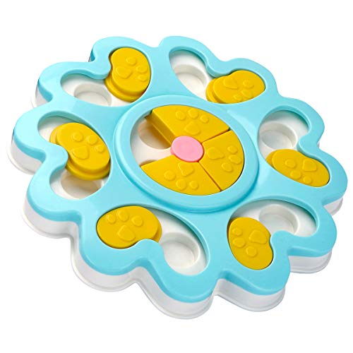 LC-dolida Puppy Treat Dispenser Dog Toys-Plastic Dog Food Puzzle Toys Bowl With Non-Slip/Increase Iq/Interactive Slow Dispensing Feeding Pet Dog Training Games Feeder For Mini Dog Puppies ()
