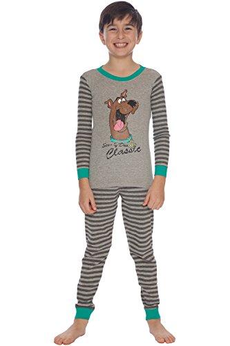 Scooby Doo Little Boys' Vintage Pajama Set, Gray, 4/5