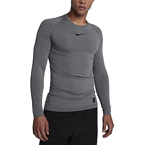 083d370c Galleon - Nike Pro Longsleeve Compression Shirt (Carbon Heather, XL)