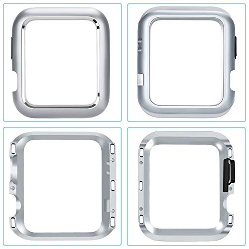 CreazyDog Magnetic Frame Watch Case Protective Cover Apple Watch Series 4 40mm/44mm (Silver, 40mm) by Creazy (Image #2)