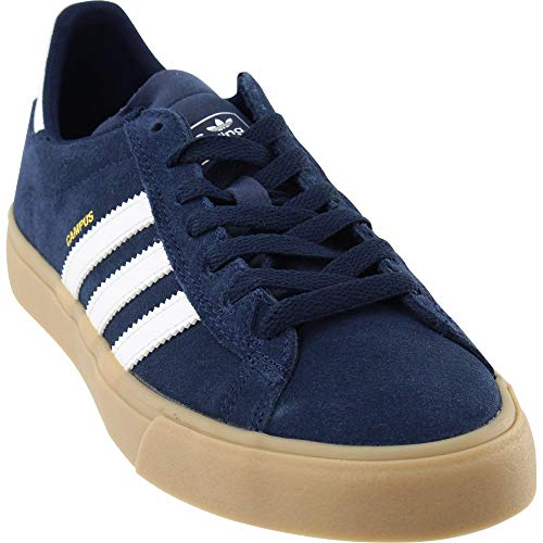 adidas Skateboarding Men's Campus Vulc II ADV Collegiate Navy/White/Gum Athletic Shoe