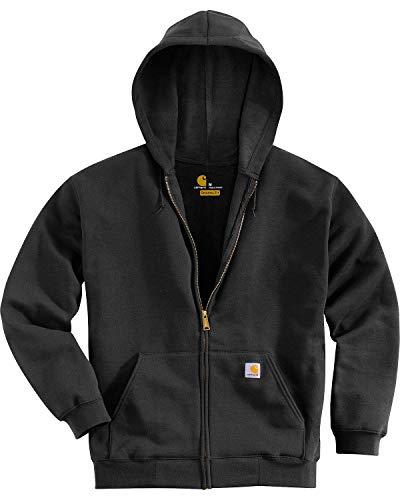 Carhartt Men's Midweight Hooded Zip-front Sweatshirt,Black,X-Large