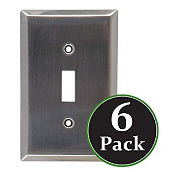 6 Pack Traditional Single Switch Brushed Nickle Finish