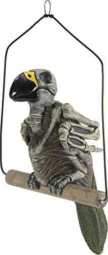 Haunted Parrot Halloween Prop Haunted House Skull Skeleton Zombie Decoration