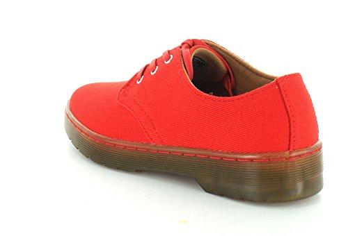rosso Derby rosso Dr Donna Scarpe Stringate Canvas Gizelle Rosso Red Twill Martens qxnwRqFAUZ