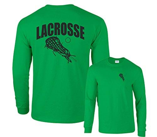 Fair Game Lacrosse Arch Sticks lax Long Sleeve T-Shirt-Irish Green-Small