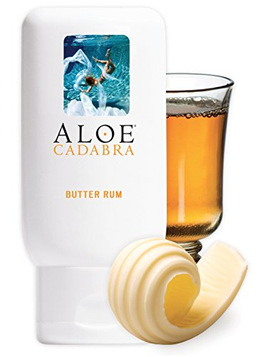 Aloe Cadabra Personal Lubricant, Natural Butter Rum Flavored Lube for Sex, Oral, Women, Men & Couples, 2.5 Ounce