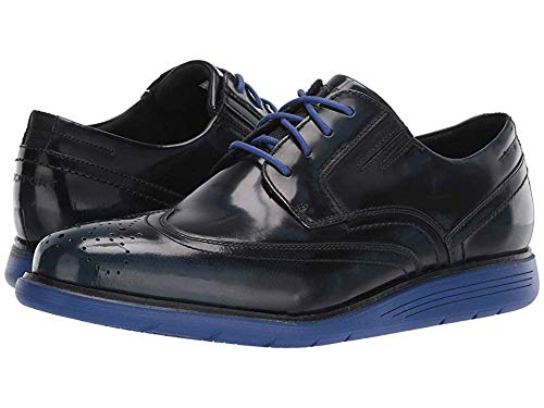 Rockport Men's Total Motion Sports Dress Wing Tip New Dress Blues Box Leather 13 W ()