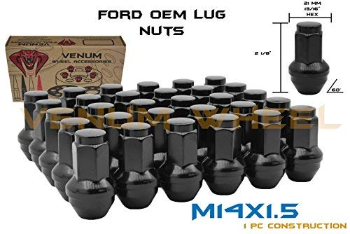24 Pc Ford Black Oem Factory Style Replacement Lug Nuts M14x1 5 Fits F 150 Pick Up Truck Expedition Years 2015 2018
