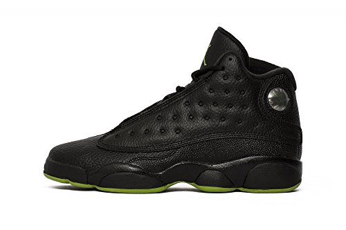 Air Jordan 13 Retro Big Kids' Basketball Shoes Black/Altitude Green 414574-042 (6 M US) (Shoes Jordans Kids)