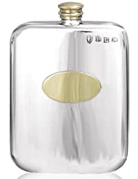 Get 6oz Plain Stamped Brass Plated Pewter Pocket Flask with Free Engraving offer