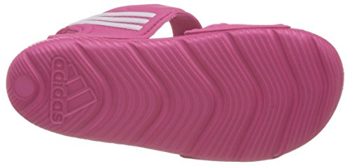 adidas Akwah 9 K - Chanclas, Unisex infantil, Rosa/Blanco (Eqtros / Ftwbla / Ftwbla), 39 1/3