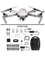 -32% en DJI - Mavic Pro Fly More Combo Platinum (Version UE) | Incl. 1 Drone Quadricoptère, 3 Batteries de Vol Intelligente, 1 Radiocommande, 1 Chargeur Voiture & Autres | Photos & Vidéos en Haute Résolution
