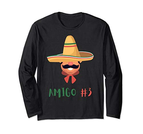 Unique Diy Couple Halloween Costumes (Funny Mexican Amigo #3 Group Matching DIY Halloween Costume Long Sleeve)
