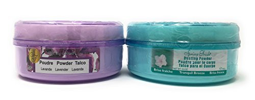 - Belcam Bath Therapy Spring Fresh Dusting Powder Lavender (5 oz) Bundle with Tranquil Breeze (5 oz)