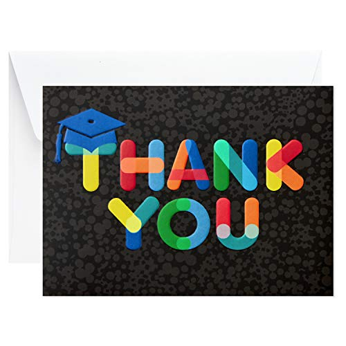 - Hallmark Graduation Thank You Cards, Colorful Thanks (20 Thank You Notes with Envelopes)