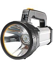AF-WAN Super Heldere LED Oplaadbare Troch Krachtige Handheld Zaklamp 7000 Lumen 9000mAh Waterdichte Spotlight 6 Lichtmodi, Draagbare LED Zoeklamp LED Torch met Power Bank (Zilver)