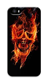 iPhone 5s Cases & Covers - Burning Skeletons Of Terror Custom PC Soft Case Cover Protector for iPhone 5s