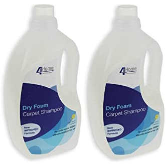 4Yourhome Vacuum Cleaner Carpet Shampoo Dry Foam Detergent And Soil Repellent (2 X 1.5L Bottles)