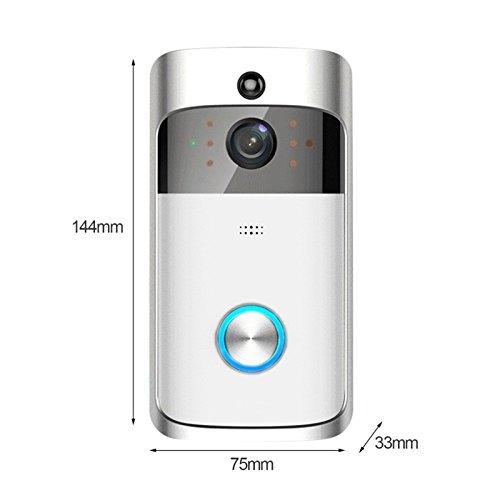 CUHAWUDBA 2018 Nouveau Sonnette video sans fil M3 Intercom a distance Interphone de securite a la maison