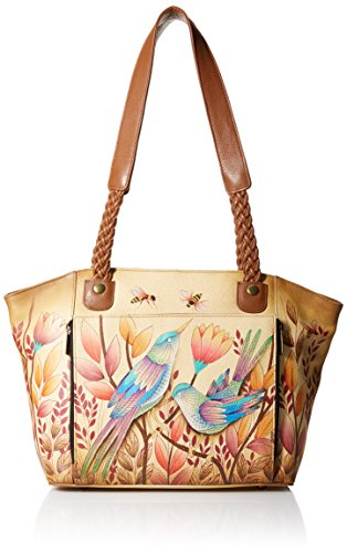 Anuschka Anna Hand Painted Leather Women'S East West Organizer Tote, Sienna Sunset by Anna by Anuschka