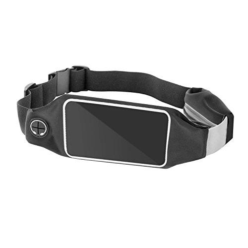 Love-KANKEI Sport Hüfttasche Gürteltasche Bauchtasche Schwarz, Passend für iPhone, Samsung, HTC usw. Ideal für Jogging, Trekking, Laufen, Reiten