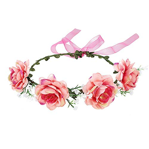 Wedding Rose Flower Crown Hair Band Party Wreath Garlands Headband for Women (Colors - ()
